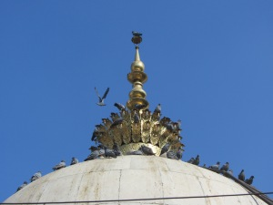 The top spire of the dargah, as can be seen from Zafar Mahal